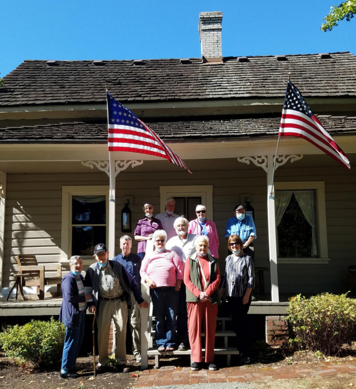 Ten residents from Glenwood Place enjoyed a recent tour of the Stanger House guided by Doris Hale, part of the restoration team.