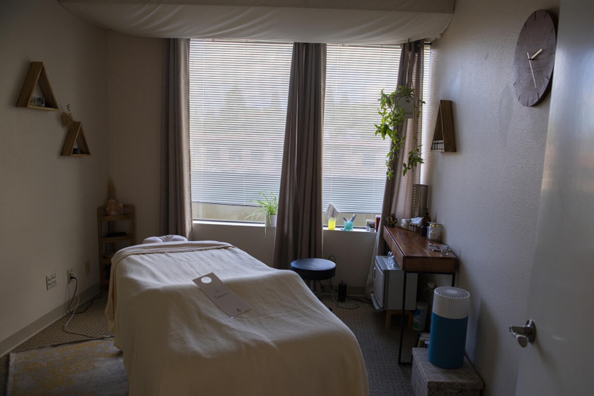 A massage therapy room is also available for clients at The Vancouver Wellness Studio.