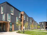 The Elwood is a permanent supportive housing development at 6317 N.E. Fourth Plain Blvd. in Vancouver. The building is specifically tailored to serve people with disabilities who have been chronically homeless.