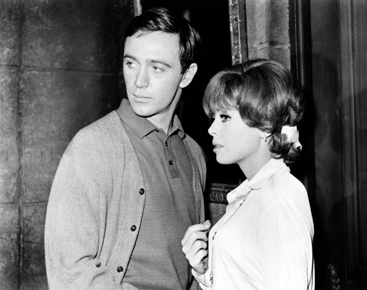 """Tommy Kirk, left, and Deborah Walley in the 1966 movie """"The Ghost in the Invisible Bikini."""" (Imago via ZUMA Press/TNS)"""