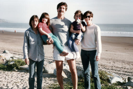 """Sandy Russo, Ry Russo-Young, Tom Steel, Cade Russo-Young and Robin Young in a family photograph from """"Nuclear Family."""" (Courtesy HBO/TNS)"""