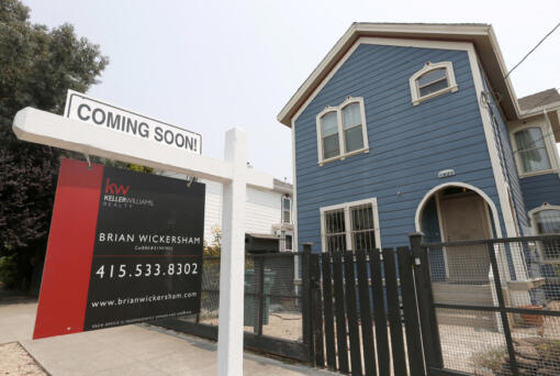 A home for sale on Wood Street in West Oakland, Calif., on Tuesday, Aug. 7, 2018.
