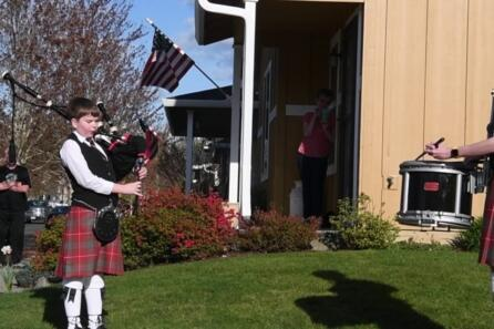 Highland-style neighborhood concert video