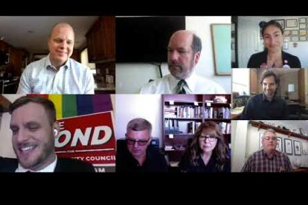Editorial Board meeting with Vancouver City Council Position 1 candidates video
