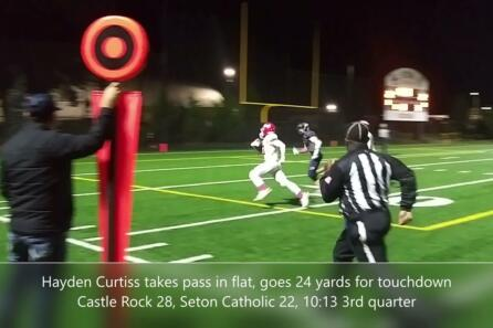 Highlights: Castle Rock holds off Seton Catholic 42-40 in thriller video