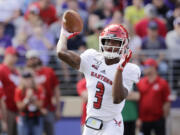 Eastern Washington quarterback Eric Barriere threw for 600 yards and seven touchdowns in a 71-14 win over Idaho on Saturday, Oct. 16, 2021..