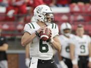 Portland State quarterback Davis Alexander threw three touchdown passes on Saturday, Oct. 16, 2021, in a 31-10 win over Idaho State.