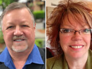 Gary Perman, left, and Marilyn Dale-Boerke are vying for Camas City Council, Ward 1, Position 2 seat
