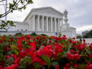 The Supreme Court is seen on the first day of the new term, in Washington, Monday, Oct. 4, 2021. (AP Photo/J.
