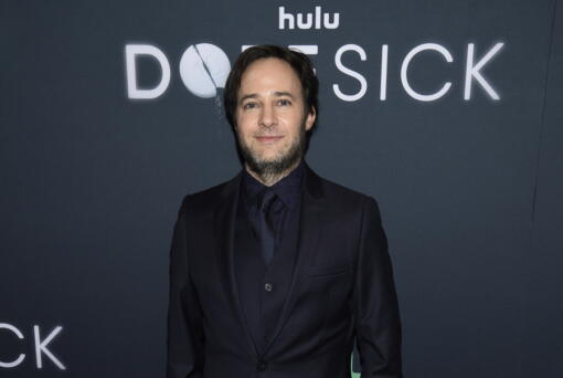 """FILE - Writer-director and executive producer Danny Strong attends the premiere of the Hulu Original Series """"Dopesick"""" on Oct 4, 2021, in New York.  Hulu's eight-part miniseries about America's opioid crisis weaves together the narcotic painkiller's devastating toll and the actions of those who allowed or failed to prevent it. Three episodes debut Wednesday on the streaming service, with the rest out weekly."""