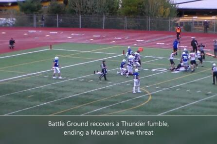 Highlights: Mountain View beat Battle Ground 34-3 video